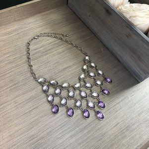 Purple ombré statement necklace
